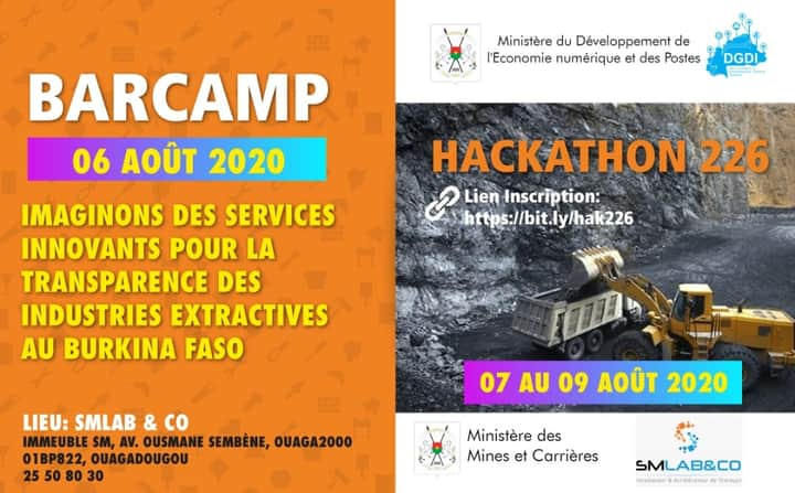 Hackathons 226 :  Transparence des industries extractives au Burkina Faso